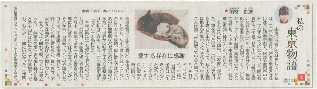 東京新聞「私の東京物語」第10話